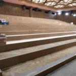 Podlaha v kině - příprava na pokládku PVC