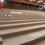 Podlaha v kině - položené PVC na hlavní ploše
